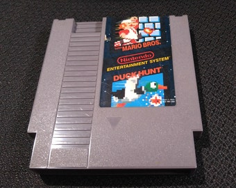 Super Mario Bros and Duck Hunt Nintendo Entertainment System Game *Cleaned & Tested* NES