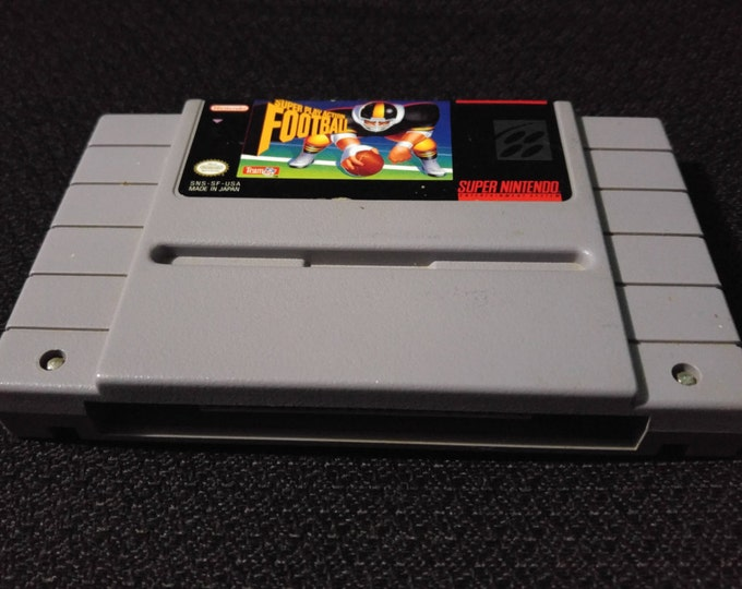 Super Play Action Football Super Nintendo Entertainment System Game *Cleaned & Tested* SNES