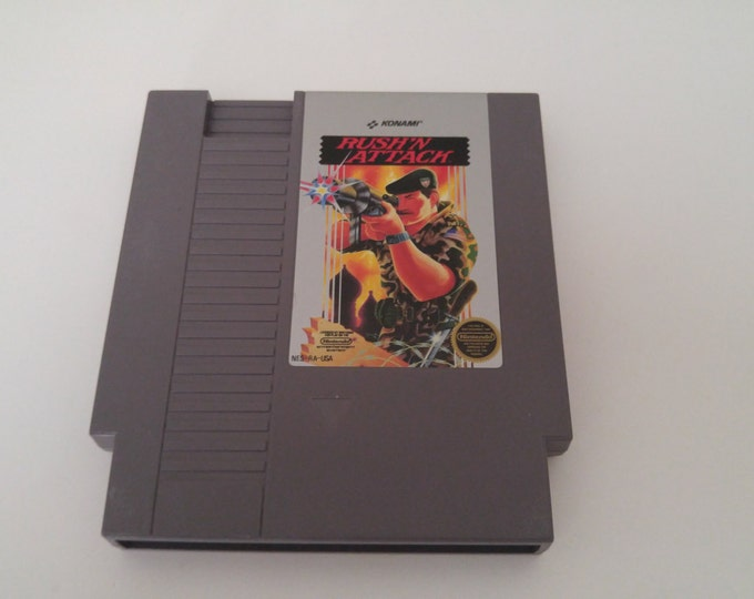 Rush'N Attack Nintendo Entertainment System Game *Cleaned & Tested* NES