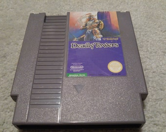 Deadly Towers Nintendo Entertainment System Game *Cleaned & Tested* NES