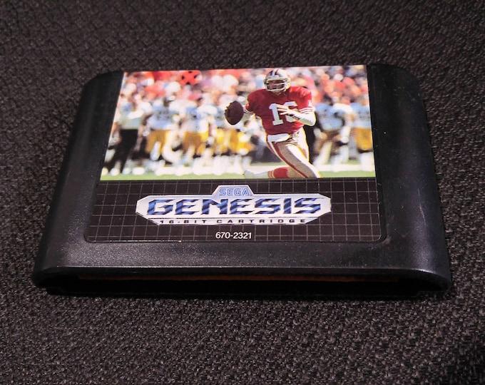 Joe Montana Sports Talk Football Sega Genesis video game