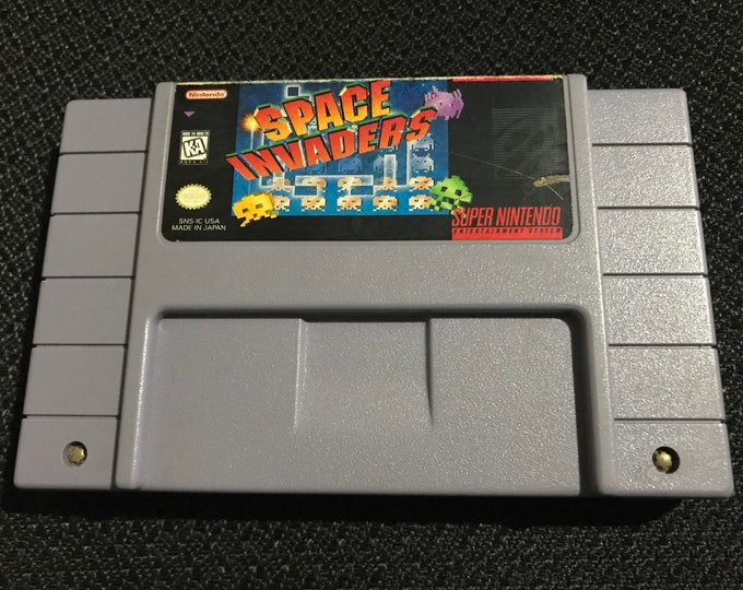 Space Invaders Super Nintendo Entertainment System Game *Cleaned & Tested* SNES