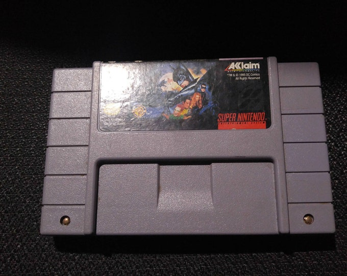 Batman Forever Super Nintendo Entertainment System Game *Cleaned & Tested* SNES