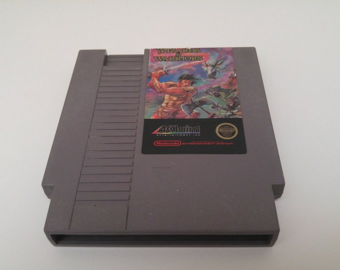 Wizards and Warriors Nintendo Entertainment System Game *Cleaned & Tested* NES
