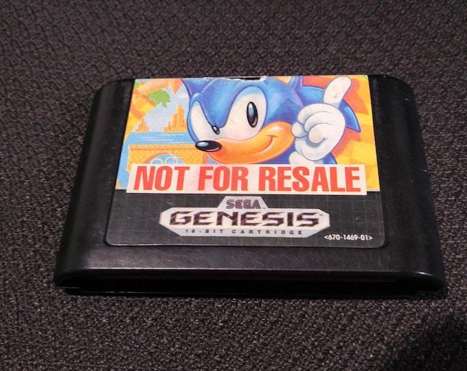 Sonic The Hedgehog Sega Genesis video game