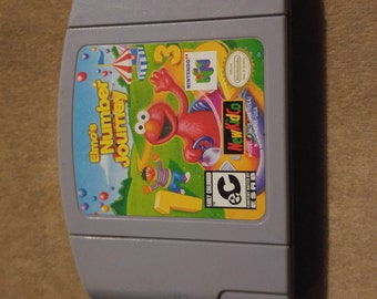 Elmos Number Journey Nintendo 64 Game *Cleaned & Tested* N64