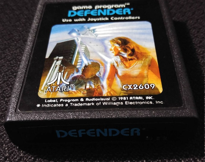 Defender Atari 2600 video game *Cleaned & Tested*