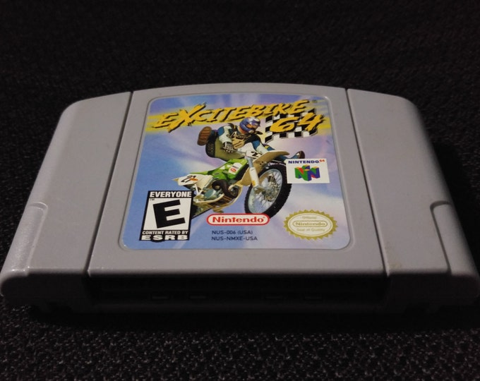 Excite Bike 64 Nintendo 64 Game *Cleaned & Tested* N64