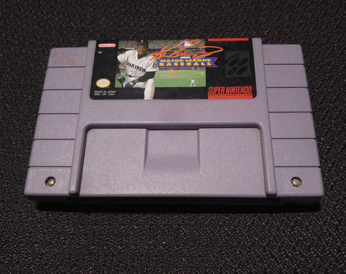 Ken Griffey Major League Baseball Super Nintendo Entertainment System Game *Cleaned & Tested* SNES