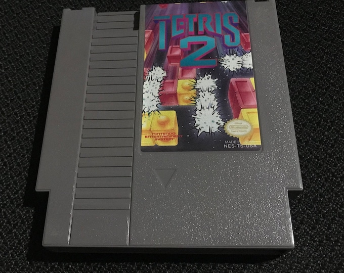 Tetris 2 Nintendo Entertainment System Game *Cleaned & Tested* NES