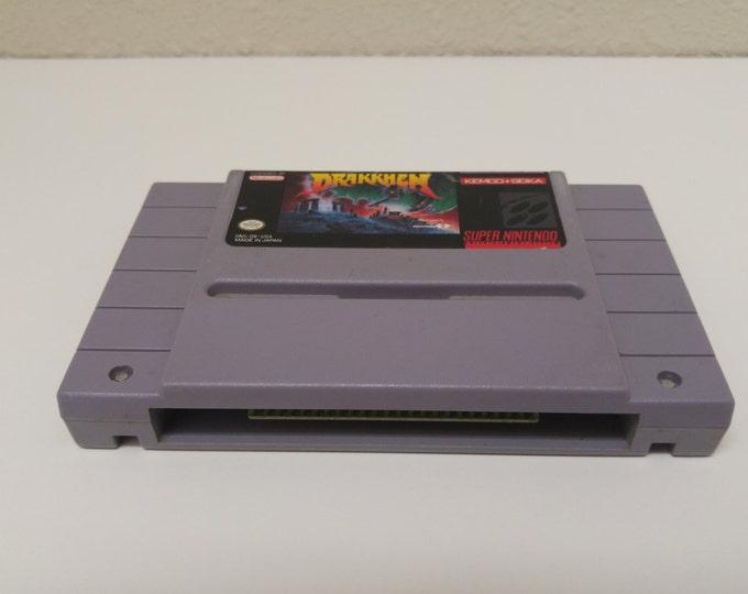 Drakkhen Super Nintendo Entertainment System Game *Cleaned & Tested* SNES