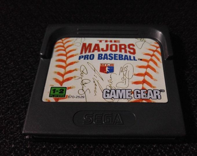 The Majors Pro Baseball Sega GameGear Video game *Cleaned & Tested*