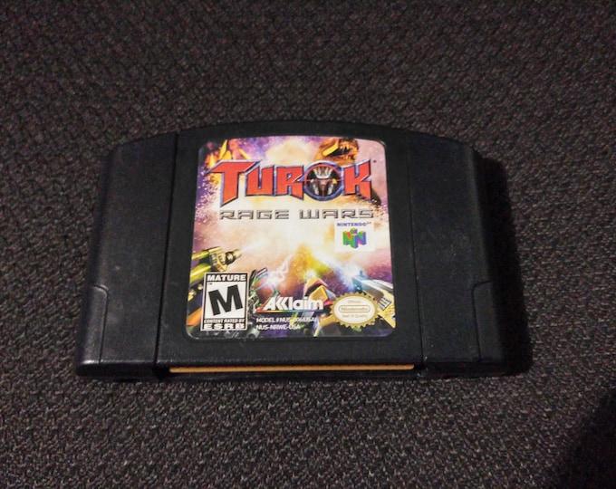 Turok Rage Wars 64 Game *Cleaned & Tested* N64