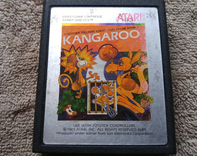 Kangaroo Atari 2600 video game *Cleaned & Tested*