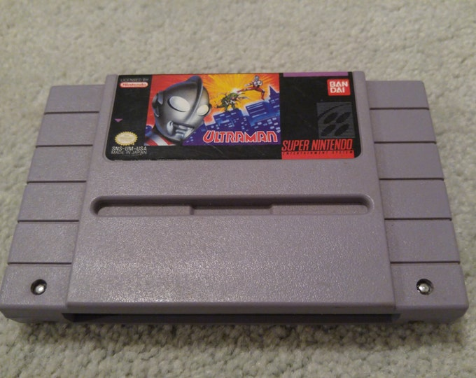 Ultraman Super Nintendo Entertainment System Game *Cleaned & Tested* SNES
