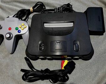 Nintendo 64 Charcoal Gaming System N64 *Cleaned & Tested*