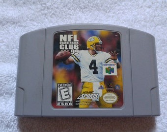 NFL Quarterback Club Nintendo 64 Game *Cleaned & Tested* N64