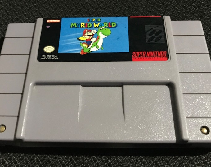 Super Mario World Super Nintendo Entertainment System Game *Cleaned & Tested* SNES