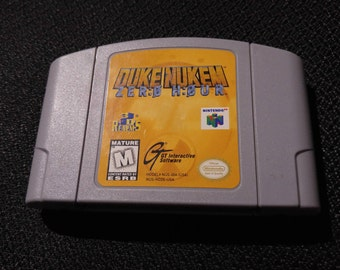 Duke Nukem Zero Hour N64 Game *Cleaned & Tested* N64