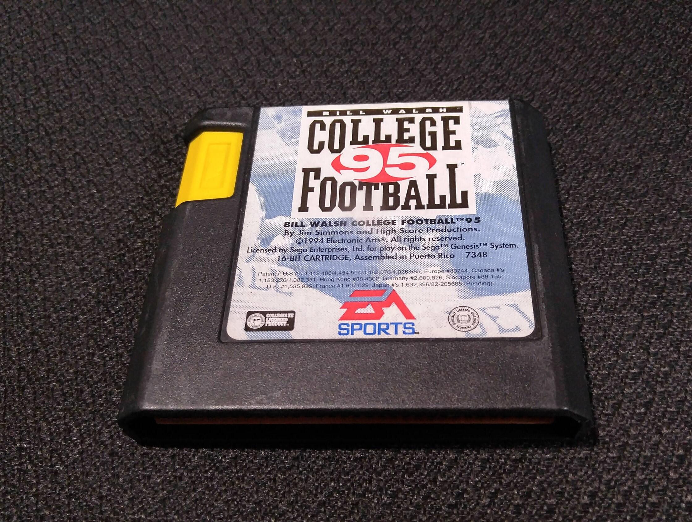 Bill Walsh College Football 95 Sega Genesis Video Game Cleaned