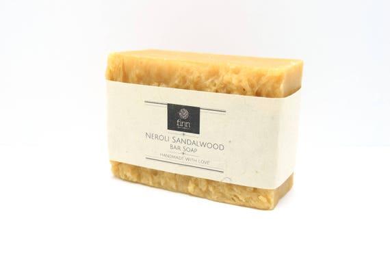 Néroli naturel fait à la main bois de santal savon ~ taille Jumbo 6oz Bar ~