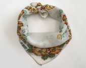 Silky Vintage Dog Bandana Fits up to an 8 quot Neck