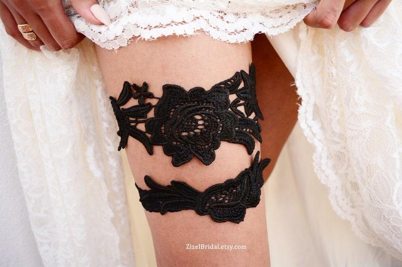 f557b7af62f Lace Wedding Garter Wedding Garter Set Black Bridal Garter