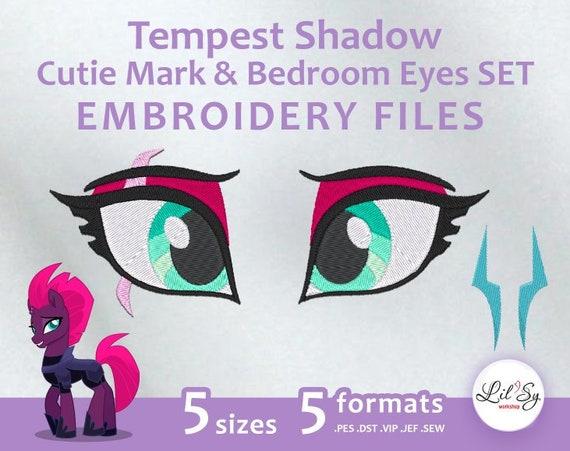 Tempest Shadow Cutie Mark & Bedroom Eyes SET Embroidery Machine Design