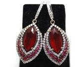 925 Sterling Silver Earrings, Ruby Earrings, Grandbazaar, Kosem sultan earrings, İstanbul jeweleries