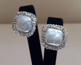 Pearl Earrings, Ottoman jewelry, Gift for women, fresh water pearl, Grandbazaar