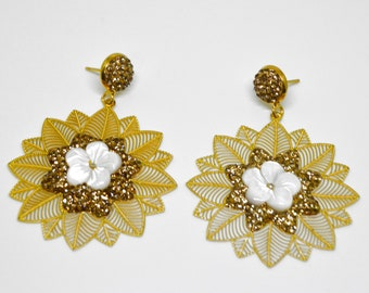 22k Gold Plated Earrings,Turkish jewelry, Special Design