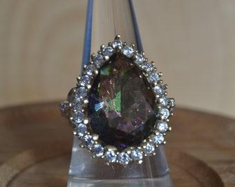 Mystic Topaz Silver Ring, Hurrem sultan ring, 925k Silver Ottoman Ring, Turkish Ring, Turkish jewelry, Women rings