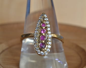 Ruby Ottoman Ring, Hurrem sultan ring, 925k Silver ring ,Istanbul jewelry, Grand bazaar, Women ring size: 10 Us