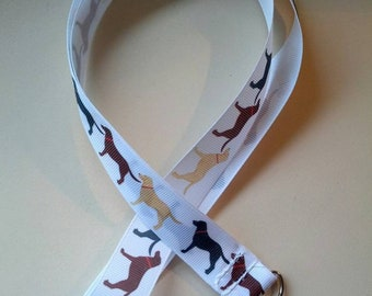 Labrador grosgrain ribbon lanyard / ID holders - gifts for dog owners