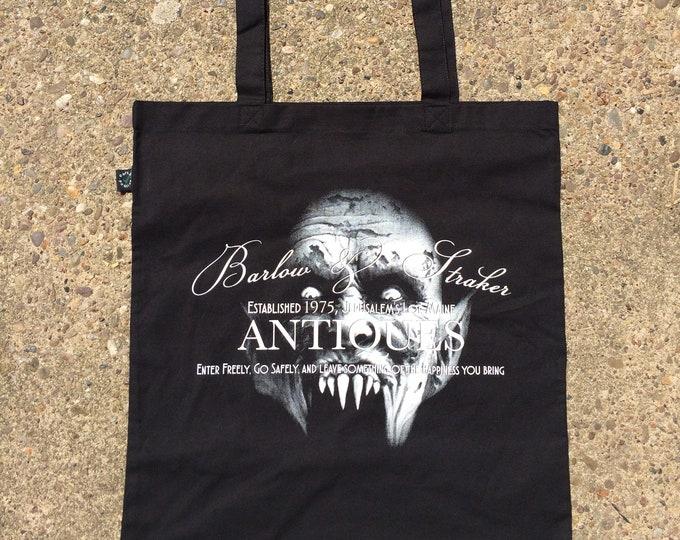 Stephen king Salems Lot inspired tote bag, hand screen printed organic cotton tote bag, nameless city apparel, horror tote bag, bag for goth