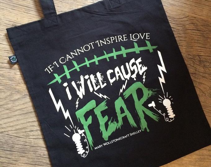 Frankenstein Quote Tote Bag / Classic Horror Quote Bag / Horror Bag / Mary Shelley Quote / Bookish Tote Bag / Shoulder Bag / Nameless City
