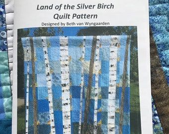 Land of the Silver Birch Quilt Pattern, Paper