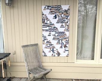 Urban Trees Art Quilt, Fibre Art, Textile Art