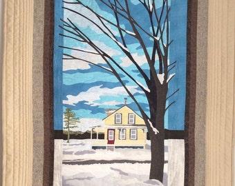 Sutton Winter Art Quilt Fibre Art Textile Art
