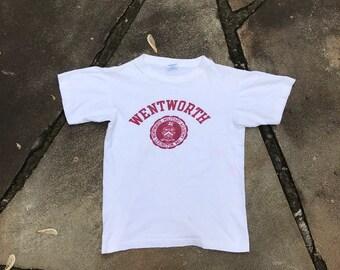 38aa6b1f Vintage Champion USA Military Academy T-shirt 70's Wentworth Womens XS