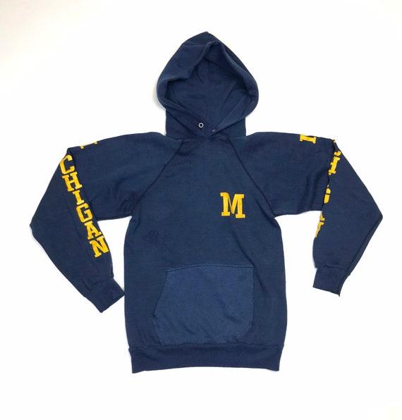 Vintage Michigan Faded Hooded Sweatshirt 1970's 80