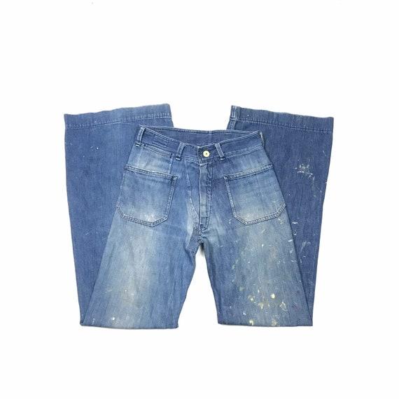 Sailor W30.5 L36 USN Bell Bottom Jeans 1940s 50s L
