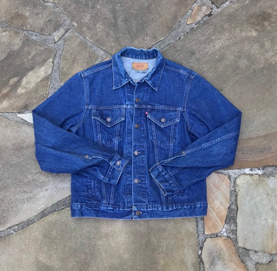 1980's Levis 45L Trucker Jacket Lovely Dark Wash V