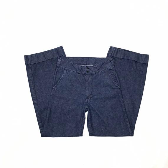 1970's W31 L32 High Waist Flared Jeans Sailor Styl