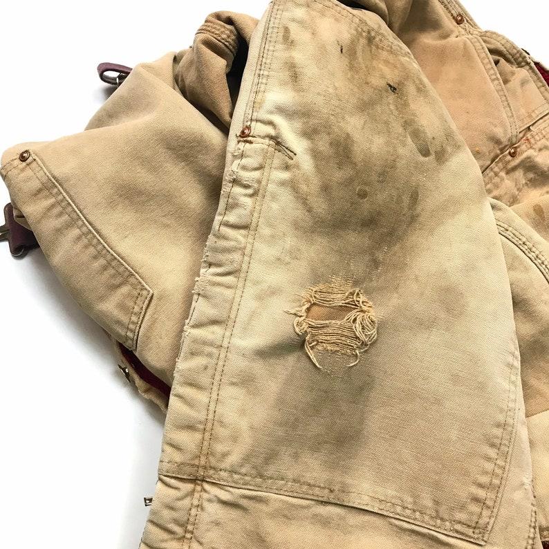 Carhartt 1970\u2019s W28-30 L30USA Vintage Overalls Farm Distress Fades Thermal Lined