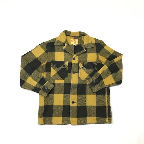Vintage Bemidji Plaid Large Wool Shirt Jacket Butt