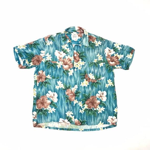 50's Penny's Rayon Floral Hawaiian Aloha Shirt Men