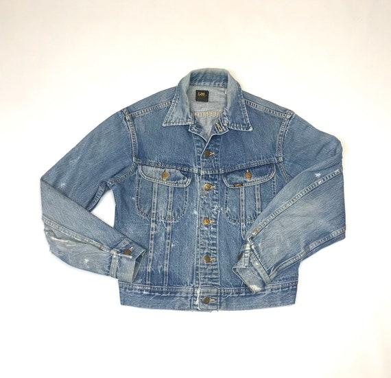 Vintage Lee Sanforized Distressed Denim Jacket Uni