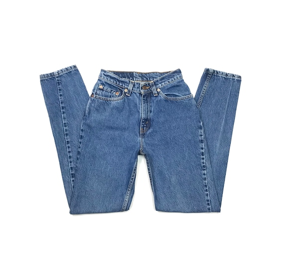 Levis W24 L30 USA 512 Vintage Jeans Slim Fit Taper