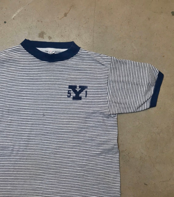 1951 Yale Striped T-Shirt All Cotton Original 1950